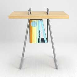 Mosquito Table, simple design, lightweight, easy assembly, where simplicity is not detrimental to the aesthetic value of the table. Bruno Suraski.