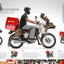 Moto-Reindeers delivered thousands of turkey sfihas, bringing the Christmas spirit to the streets in a new and unusual way, making Christmas 2012 unforgettable for many people.