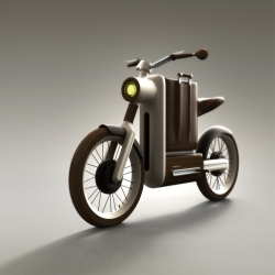 Motobecane Motivo - An electric motorbike for riding around town in style. Design by Miguel Ángel Iranzo Sánchez