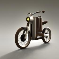 Motobecane Motivo - An electric motorbike for riding around town in style. Design by Miguel Ángel Iranzo Sánchez