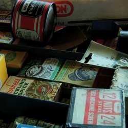 Portland graphic design guru Aaron Draplin gives you a guided tour through his bulging drawers of dirty (packaging) delights.