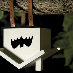 Mus, the most symbolic contribution of the proposal pursues awaking new consciences on animal life preservation. Mus as an ornament object, recreates an upside down jail and represents the bats´ lost homes.
