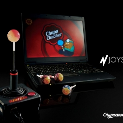 Introducing 'N-Joystick' the world's 1st mouth operated joystick. Designed to deliver a uniquely delicious playing experience, the N-Joystick allows users to a slot Chup Chups into the shaft and use their mouth to control the action.
