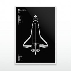 Graphic Designer Dave Cuvelot launches Discovery, second in a poster series celebrating 30 years of NASA's Space Shuttle program.