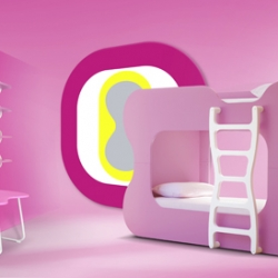We love the bedrooms for children designed by Karim RASHID for NEOSET...