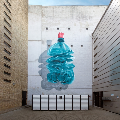 """""""Exhausting machine n.2"""" is the latest urban intervention realized by swiss duo Nevercrew in Aalborg, Denmark. It focuses on the relationship between mankind and nature."""