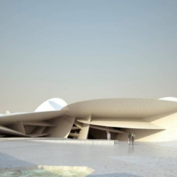 The new National Museum of Qatar, as expressed in a striking and evocative design by Pritzker Prize-winning architect Jean Nouvel.