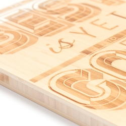 The Lost Words are launching a range of 12 typographic prints available as laser etched bamboo boards or prints.