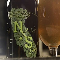 Stone & Sierra Nevada NXS IPA: A California collaboration blend of Dry-Hopped IPA and barrel aged IPA. Fantastic graphic for the collaboration!
