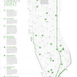 NYC's GREENPRINT: A Great infographic map that explains the latest green efforts being made in NYC.