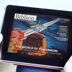 Biblion - A new iPad application that reinvents the way books stacks are navigated and explored. The content and the form in which it is presented are intriguing and exciting.