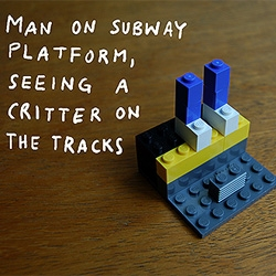 LEGO memories of NYC by artist Christoph Niemann.