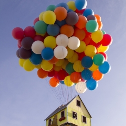 People from National Geographic have built a house inspired by the Pixar movie Up.