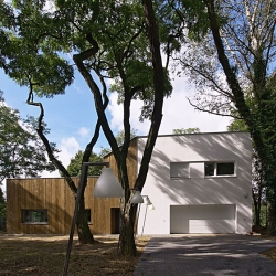 The House near Poznan is now completed. It was designed by Neostudio Architect and converted from a home of seed drying installation to a private house.