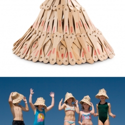 Nestle Ice Cream and JWT Johannesburg created a new summer accessory, a hat made from ice cream sticks!