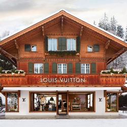 Louis Vuitton opens luxury store in Gstaad.