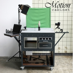 Motion Cabinet by Niels Hoebers is a practical and mobile stage, especially designed for stop motion animations.