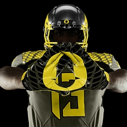 University of Oregon's new uniforms use Nike's Chain Maille Mesh technology for ventilation and durability.