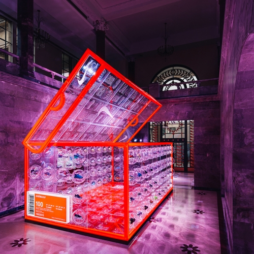 London-based agency Rosie Lee has built a shoe-box-pop-up to celebrate the the Air Max Day in Shanghai.