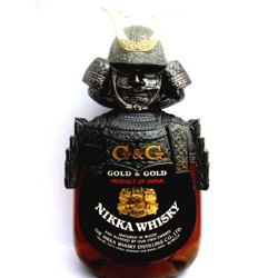 Nikka Whiskey is produced in Japan and some bottles are enshrouded in a metal coat of samurai armor.