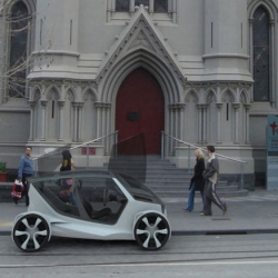 The Nissan Weave electric car by designer Nigel Chen is designed specifically for the high-rise urban settings of large cities and high population density areas - like Singapore,