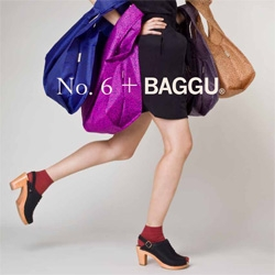 A New No.6 + BAGGU Collaboration! Inspired prints from No. 6's sought after clothing collection on your favorite reusable totes!