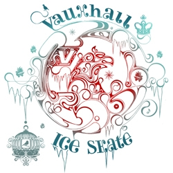 Illustrator Si Scott designs a fairytale-inspired identity for Vauxhall Motors to promote the last UK ice skating event of the season