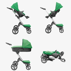 Stokke Xplory: A very well designed stroller with multiple configurations. Nice and high, and with a small footprint.