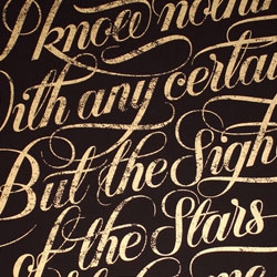 3 new typographic limited edition prints from Seb Lester, 'Dreams', 'Stars' & 'So Much To Do'.