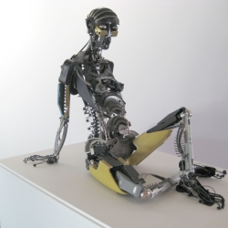 Newly updated website with images of sculptures by Jeremy Mayer. They are  made from typewriter parts without soldering, gluing, or welding- a process he calls cold assembly.