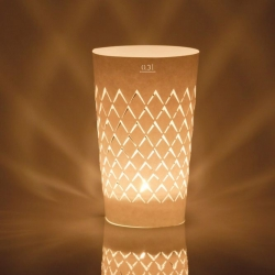 Upgeripptes, a traditional German 'Frankfurt Cider Glass' design turned into a striking tea light by Andrea Moseler.