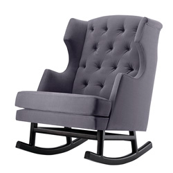 Nurseryworks' Empire Rocker by lawson-fenning ~ one of the 5 new products that just launched ~ looks comfy and is available in a range of colors/materials