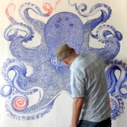 Reinterpreting an old Ernst Van Haeckel lithograph.