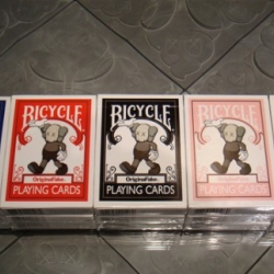 As part of their 4th anniversary celebration, Orginal Fake teamed up with Bicycle to created limited edition playing cards.