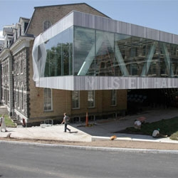 'Milstein hall Cornell university' by OMA in Ithaca, New York, USA.