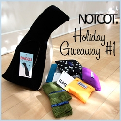 First NOTCOT Holiday Giveaway bundle ~ this one is a bunch of the latest from BAGGU, including their adorable holiday penguin in canvas!