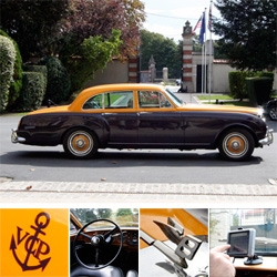 The Veuve Clicquot 1960's Bentley S3 has GPS! And some of the most incredible details i couldn't get over... and it's quite a trip to drive around Reims in it...