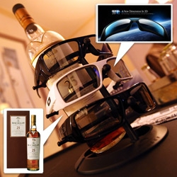 Oakley 3D optics + Macallan 25 (and Ice Ball Machine) + Aria top floor suite views at CES!