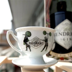 Hendrick's Gin ~ always lovely packaging and playful graphic design ~ now with a Tea Cup!