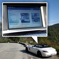 Car as smartphone? ~ Mercedes-AMG SLS browses the web, becomes WLAN hotspot, runs android (so you can write apps for it?), has a G-meter, race mode, and more...
