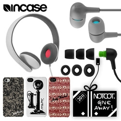 NOTCOT Holiday Giveaway #8: Incase! We'll have 8 winners for this one ~ 3 Reflex headphones and 5 sets of Capsule headphones with a Warhol iPhone case!