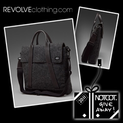NOTCOT Holiday Giveaway #10: Revolve Clothing is giving away an awesome Jack Spade Waxed Wool Tote!
