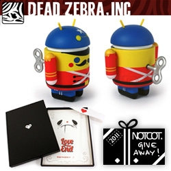 NOTCOT Holiday Giveaway #16: Dead Zebra is giving away 10 Android Mini Special Edition Toy Soldiers by Gary Ham, or a chance to win the Love the End Print Set AND a Android Toy Soldier!