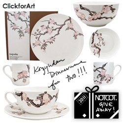 NOTCOT Holiday Giveaway #18: Click For Art is giving away two of their new Kozyndan bunny dinnerware sets!