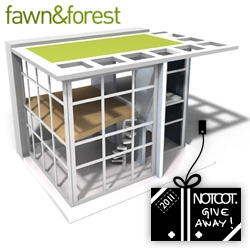 NOTCOT Holiday Giveaway #20!!! Fawn and Forest is giving away an incredible modern dollhouse, Brinca Dada's Dylan House.