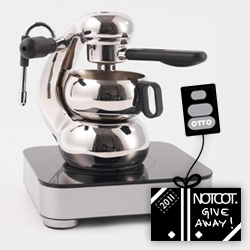 NOTCOT Holiday Giveaway #28: OTTO Espresso (after three years of development and a few awards) is giving away one of their stunning  OTTO Espresso Makers and Portable Induction Cooktops!