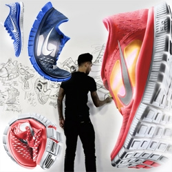 Fun to see the design/inspiration behind the new Nike Free Running Shoes. There is awesomely glowing photography of them (they remind me of nudibranchs!) as well as videos with designer Mike Miner.