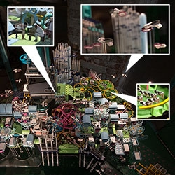 Imaginary City Kai Tak by CAVE architecture design studio has an incredibly colorful, detailed model in the Hong Kong space in the Venice Architecture Biennale, from flying cars to cows to dragons to old men playing cards and more!