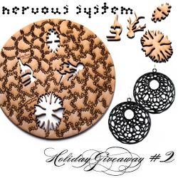 NOTCOT Holiday Giveaway #2: Nervous System! You have a chance to win one of their new Natural Series Puzzle and a pair of Cellular Earrings (in the color of your choice).
