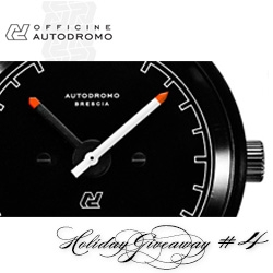 NOTCOT Holiday Giveaway #4: Autodromo. They are giving away one of their stunning (and beautifully packaged) Brescia Motoring Watches. Perfection for clean minimalist design and vintage car detail lovers.